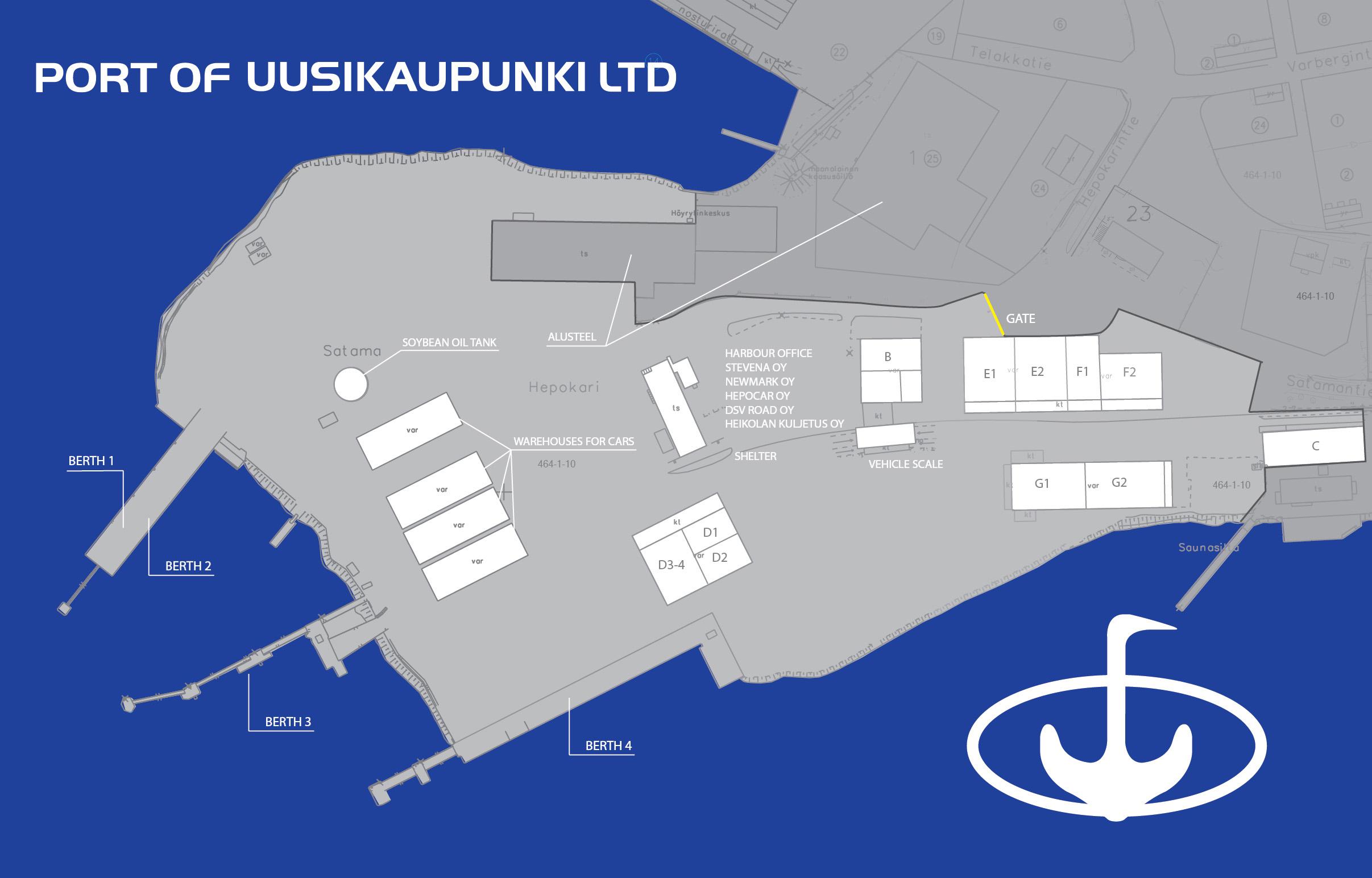 Harbour map Port of Uusikaupunki